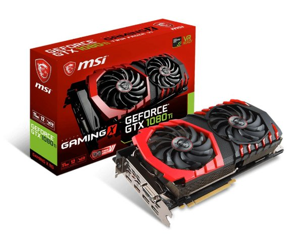 Placa de Vídeo Geforce GTX 1080TI Gaming X 11gb GDDR5X - 352 Bits MSI Gaming