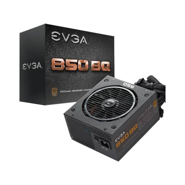 Fonte ATX Semi Modular 850 Watts Potência Real C/ PFC Ativo Bivolt Automática EVGA 110-BQ-0850-V1 - 80% Plus Bronze