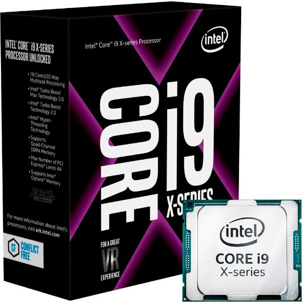 Processador Intel Core I9 Kaby Lake 7900X 3.3 Ghz (4.3GHz Max Turbo) C/ 13.75MB Cache Socket LGA 2066 - BX80673I97900X