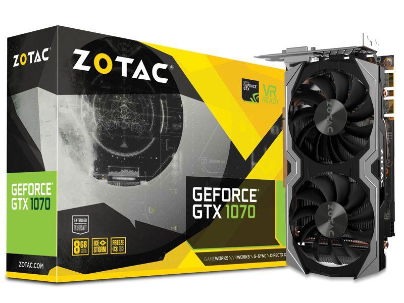 Placa de Vídeo Geforce GTX 1070 - 8GB GDDR5 - 256 Bits ZOTAC ZT-P10700G-10M