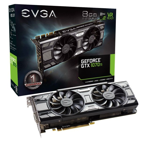 Placa de Vídeo Geforce GTX 1070TI SuperClocked 8gb GDDR5 - 256 Bits EVGA 08G-P4-5671-KR