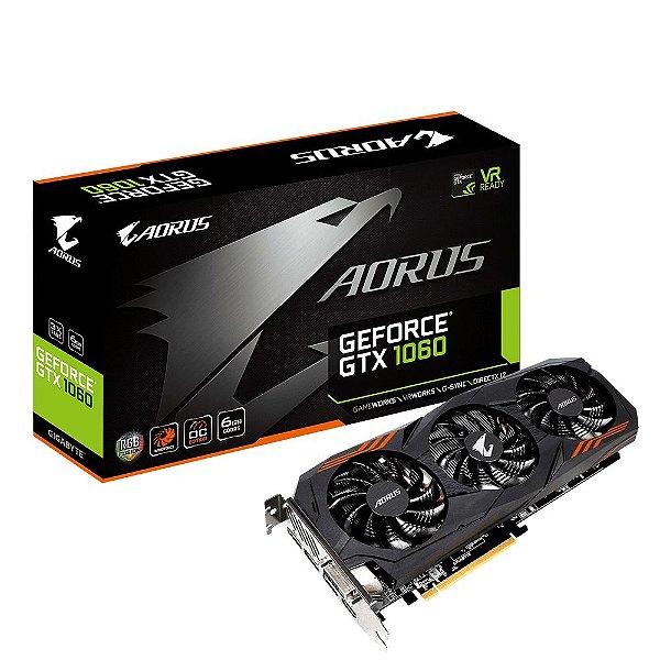 Placa de Vídeo Geforce GTX 1060 WindForce 3X - 6Gb GDDR5 Gigabyte GV-N1060AORUS-6GD R2