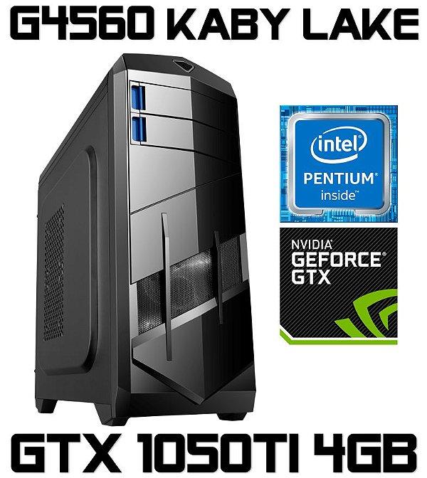 PC Gamer Intel Pentium Kaby Lake G4560, 4GB DDR4, HD 1 Tera, Geforce GTX 1050TI 4GB