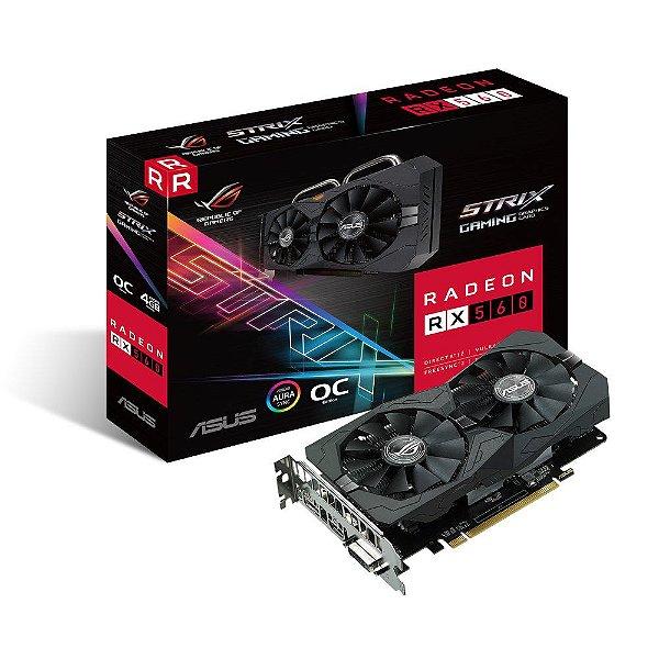 Placa de Vídeo AMD Radeon ROG STRIX RX 560 OC 4GB GDDR5 - 128 Bits ASUS RX560-O4G-EVO-GAMING -