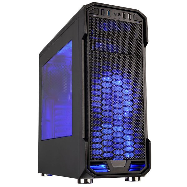 Gabinete ATX Gamer C3 TECH MT-G600BK C/ 3 USB Frontais, Tampa Lateral em Acrílico e 1 Cooler LED AZUL