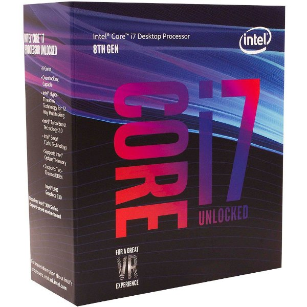 Processador Intel Core I7 Coffee Lake 8700K - 3.7 GHZ (4.7GHz Max Turbo) C/ 12MB Cache LGA 1151 - BX80684I78700K