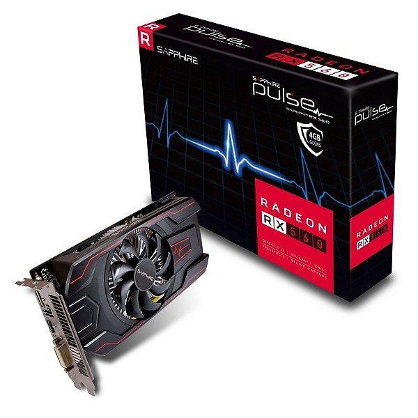 Placa de Vídeo AMD Radeon RX 560 PULSE 4GB GDDR5 - 128 Bits SAPPHIRE 11267-18-20G