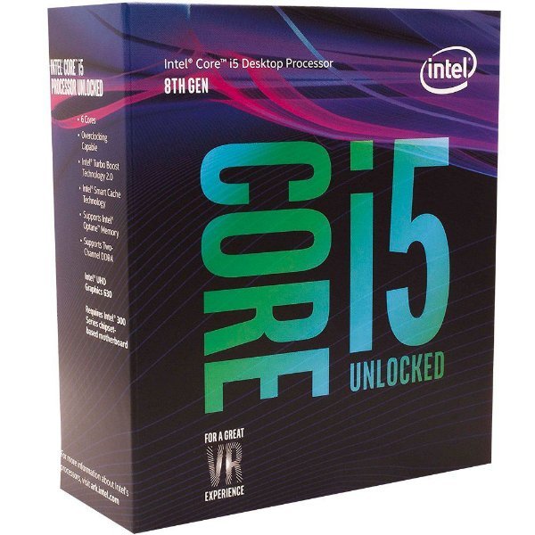 Processador Intel Core I5 Coffee Lake 8º Geração 8600K - 3.6 GHz C/ 9MB Cache (4.3 GHz Max Turbo) Socket LGA 1151 - BX80684I58600K