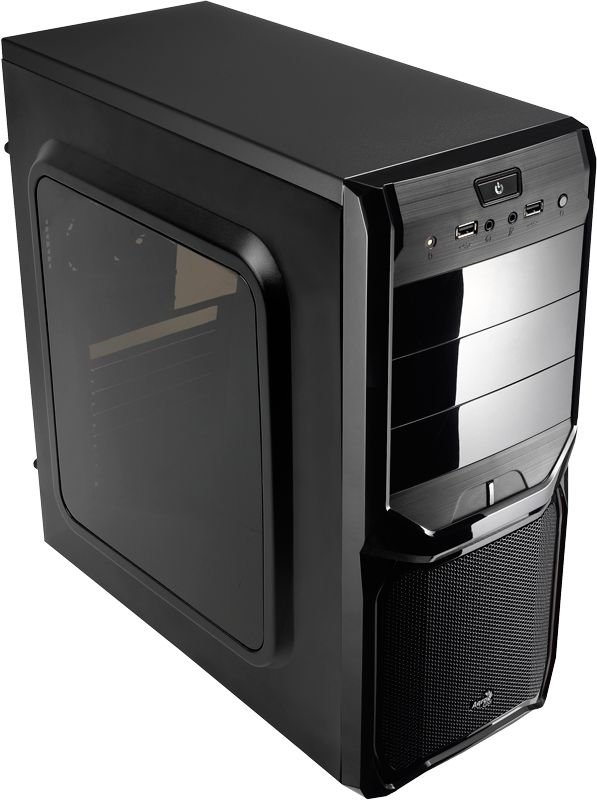 Gabinete Gamer Mid Tower Black AEROCOOL V3X C/ Lateral de Acrílico e 2 USB 2.0 Frontal