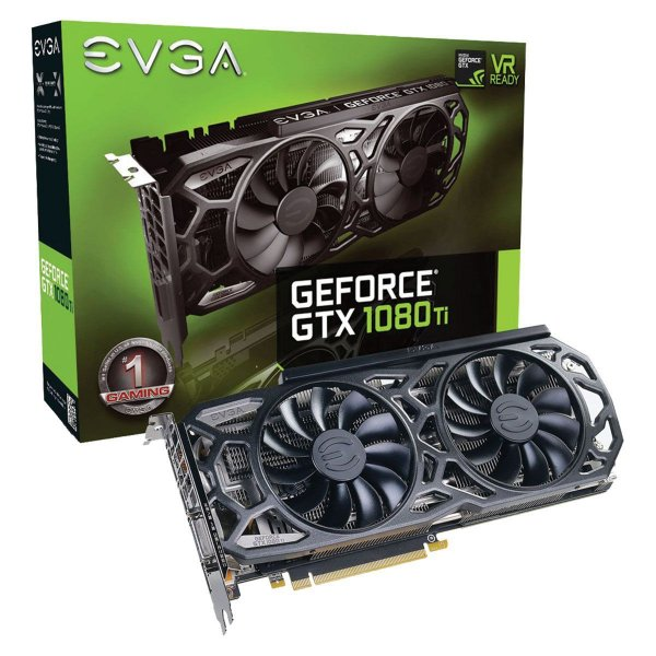 Placa de Vídeo Geforce GTX 1080TI ICX - 11GB SuperClocked Black Edition GDDR5X - 352BIT  EVGA 11G-P4-6393-KR