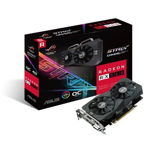 Placa de Vídeo AMD Radeon RX 560 STRIX 4GB OC GDDR5 - 128 Bits ASUS ROG-STRIX-RX560-O4G-GAMING