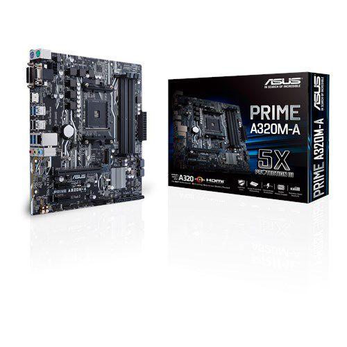 Placa Mãe ASUS PRIME CHIPSET AMD A320M-A Socket AM4
