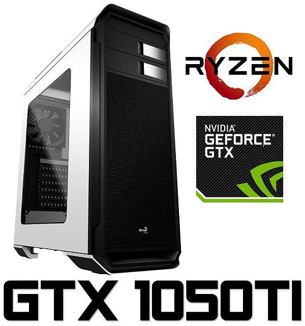 (Recomendado) PC Gamer AMD Ryzen 5 1600, 8GB DDR4, SSD 120GB, HD 1 Tera, Geforce GTX 1050TI 4GB