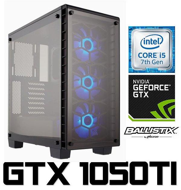 PC Gamer Intel Core I5 Kaby Lake 7400, 8GB DDR4, HD 1 Tera, Geforce GTX 1050TI OC 4GB