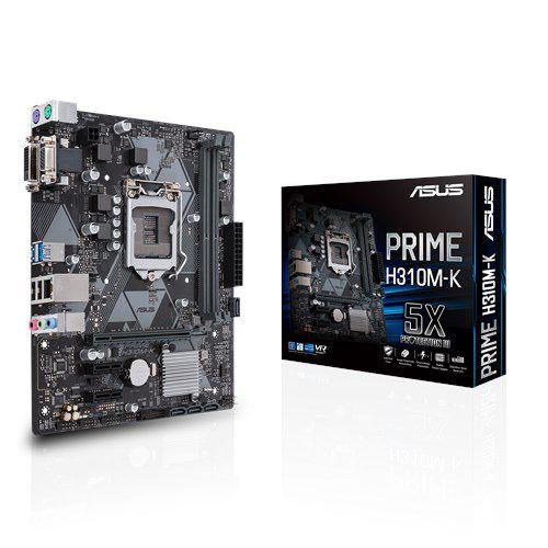 Placa Mãe ASUS Chipset Intel H310M-K Socket LGA 1151 (8º Geração)