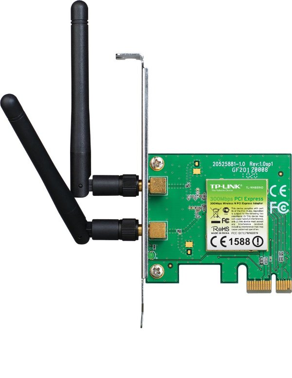 Placa de Rede Wireless 300 Mbps PCI Express X1 TP-Link TL-WN881ND