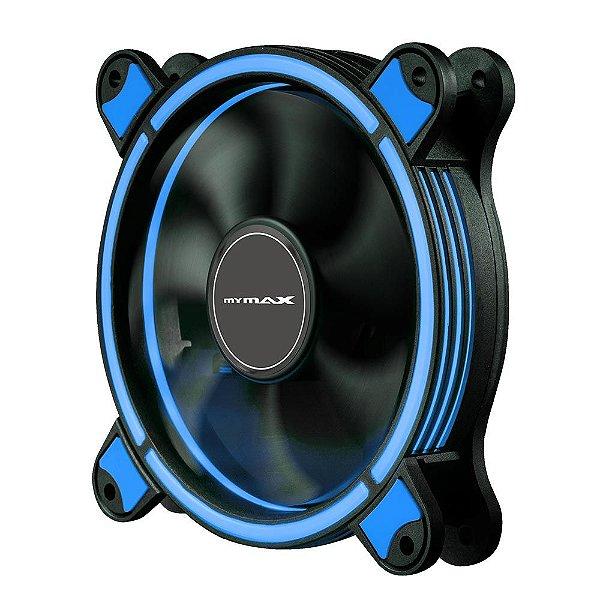 Cooler Fan 12CM P/ Gabinete Mymax Spectrum RING LED AZUL  MYC/FC-SP12025/BL