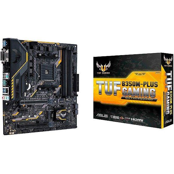 Placa Mãe ASUS TUF CHIPSET AMD B350M-PLUS GAMING Socket AM4