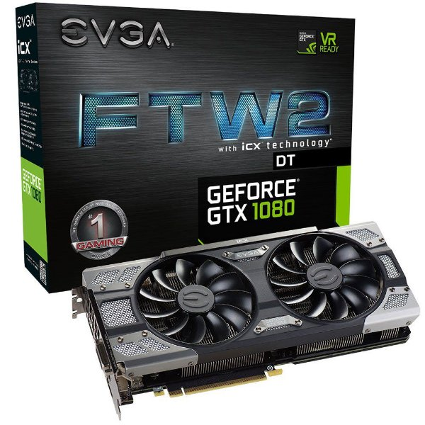 Placa de Vídeo Geforce GTX 1080 FTW2 DT GAMING 8GB GDDR5X 256Bits - 08G-P4-6684-KR