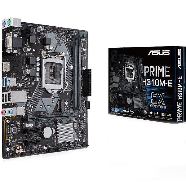 Placa Mãe ASUS CHIPSET Intel H310M-E/BR Socket LGA 1151 (8º Geração)
