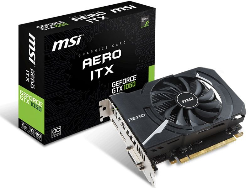 Placa de Vídeo Geforce GTX 1050 AERO ITX 2GB GDDR5 - 128 Bits MSI 912-V809-2455