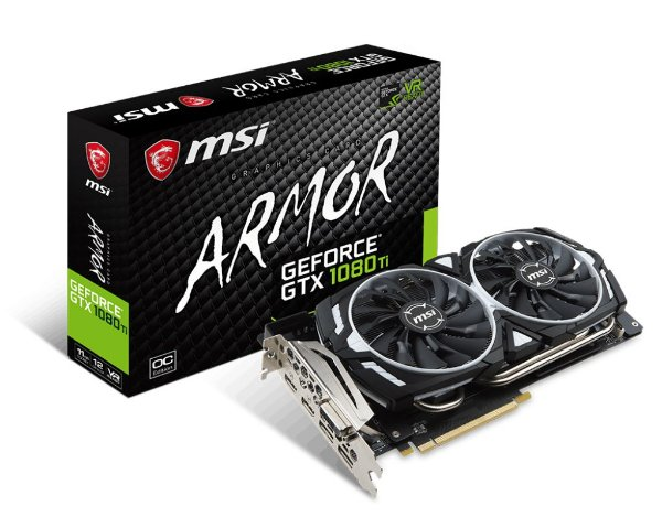Placa de Vídeo GPU Geforce GTX 1080TI OC 11GB - GDDR5X - 352 Bits MSI ARMOR EDITION 912-V360-010