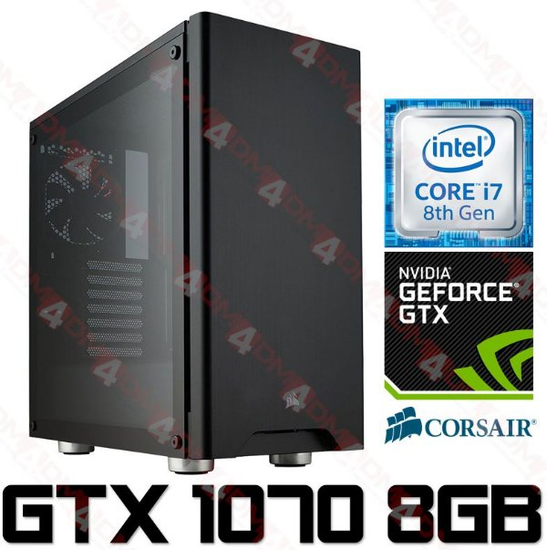 (Recomendado) PC Gamer Intel Core I7 Coffee Lake 8700K, 32GB DDR4, SSD 275GB, HD 3TB, WI-FI AC, Geforce GTX 1070 OC 8GB