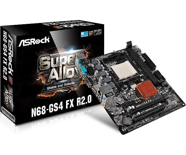 Placa Mãe ASrock Chipset AMD N68-GS4 FX R2.0 Socket AM3+