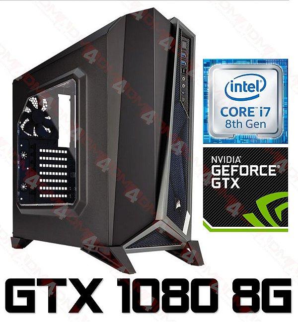 PC Gamer Intel Core I7 Coffee Lake 8700, 16GB DDR4, SSD M.2 250GB, HD 1TB, Geforce GTX 1080 OC 8GB