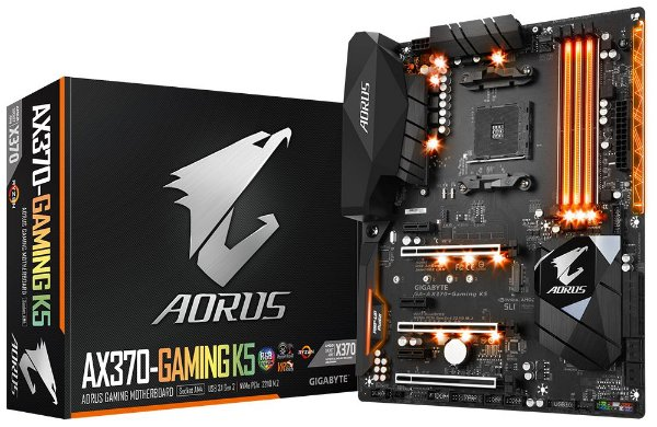 Placa Mãe GIGABYTE AORUS CHIPSET AMD AX370-GAMING K5 Socket AM4
