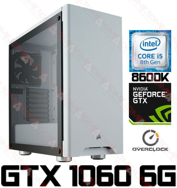 (Recomendado) PC Gamer Super LUXO Intel Core I5 Coffee Lake 8600K, 16GB DDR4 PRO, SSD M.2 250GB, HD 1TB, Geforce GTX 1060 OC 6GB