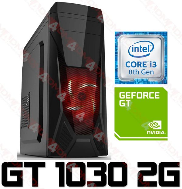 PC Gamer Intel Core I3 Coffee Lake 8100, 8GB DDR4, HD 1 Tera, GPU Geforce GT 1030 2GB