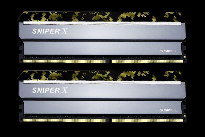 Memória 32GB DDR4 CL16 3600 Mhz G.Skill SniperX (2X16GB) - F4-3600C19D-32GSXKB