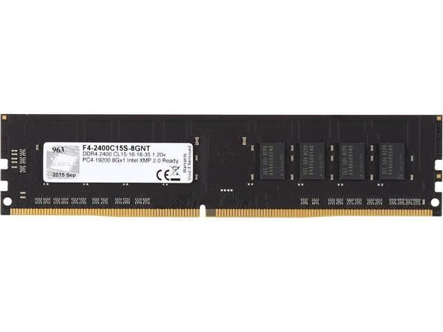Memória 8GB DDR4 CL15 2400 Mhz G.SKILL VALUE F4-2400C15S-8GNT (1X8GB)