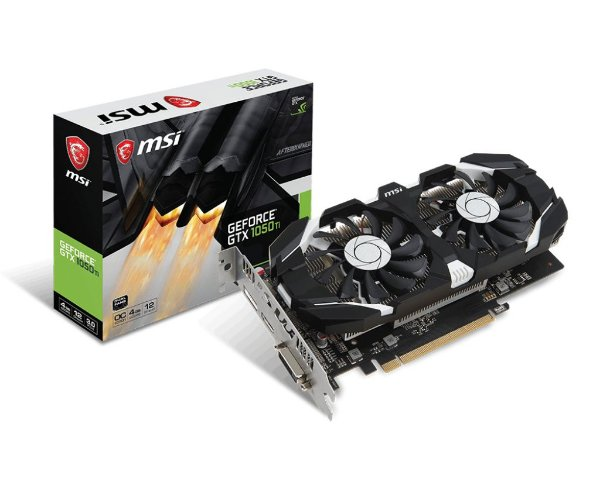 Placa de Vídeo GPU Geforce 1050TI OC 4GB GDDR5 - 128 BITS MSI 912-V809-2679
