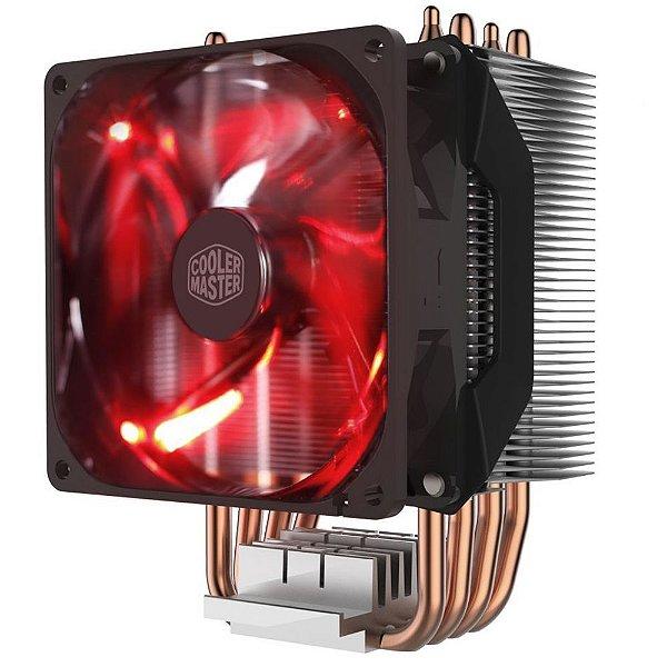 Cooler para Processador Cooler Master HYPER H410R com LED Vermelho RR-H410-20PK-R1