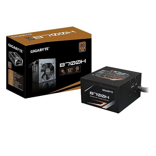 Fonte ATX 700 Watts Potência Real C/ PFC Ativo, Semi Modular, Bivolt Automático GIGABYTE B700H - 80% Plus Bronze