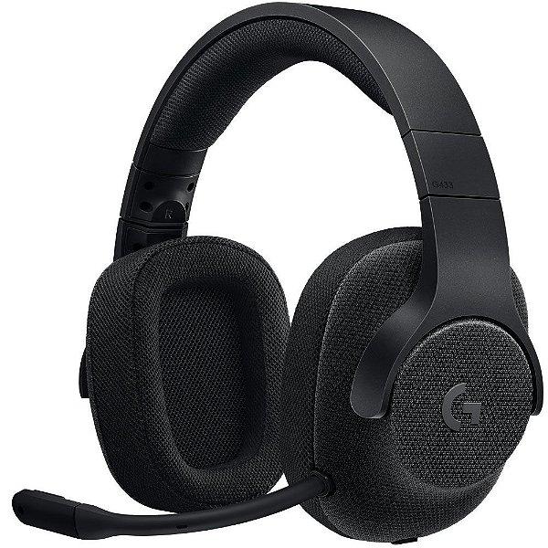 (Liquidação) Headset Gamer Logitech G433 7.1 Surround Drivers Pro-G Preto