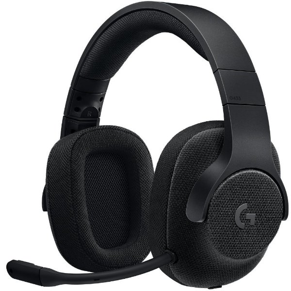 Headset Gamer Logitech G433 7.1 Surround Drivers Pro-G Preto