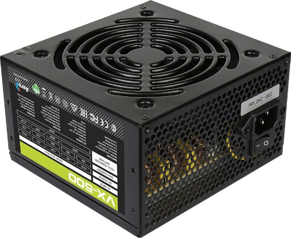 Fonte ATX 500 Watts Potência Real Bivolt Manual AEROCOOL VX-500 EN57136