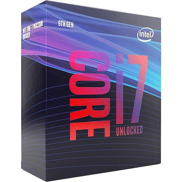 Processador Intel Core i7-9700k Coffee Lake Refresh 9a Geração, Cache 12MB, 3.6GHz (Max Turbo 4.9GHz), LGA 1151 - BX80684I79700K