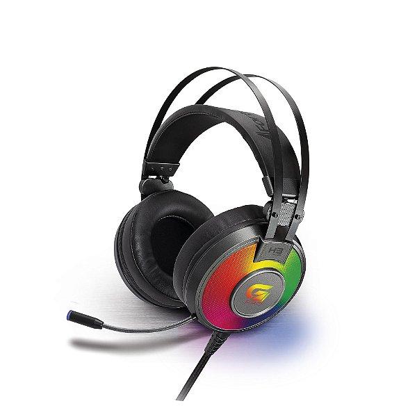 Headset Gamer RGB G Pro H3+ 7.1 Cinza USB FORTREK