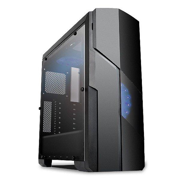 Gabinete ATX GAMER GALAXY BLACK/BLUE C/ Tampa de Acrílico Lateral e USB 3.0 FRONTAL MYMAX MCA-FC-GA11A/BL