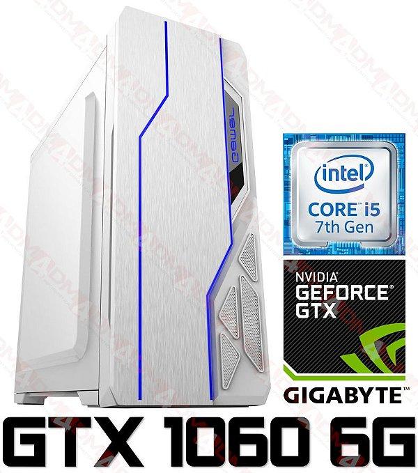 (Recomendado) PC Gamer Intel Core I5 Kaby Lake 7400, 16GB DDR4, SSD 120GB, HD 1TB, GPU GEFORCE GTX 1060 OC 6GB
