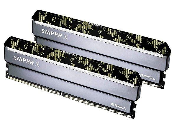 Memória 32GB DDR4 CL16 3200 Mhz G.Skill SniperX (2X16GB) - F4-3200C16D-32GSXKB