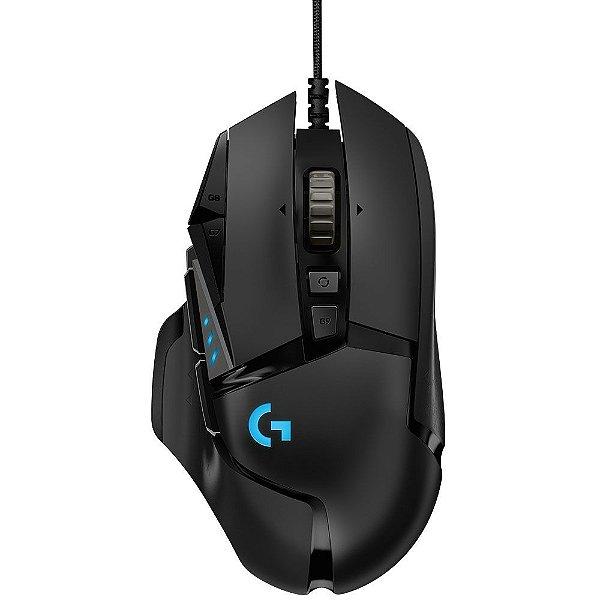 (Liquidação) Mouse Gamer Logitech G502 HERO 16K RGB Lightsync 16000DPI - 910-005550