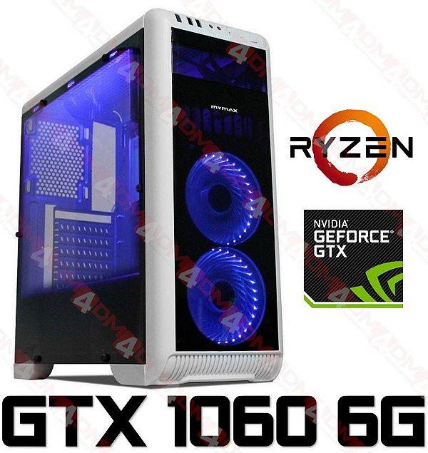 (Super RECOMENDADO) PC Gamer AMD Ryzen 5 2600X, 16GB DDR4, SSD M.2 480GB, GPU GEFORCE GTX 1060 OC 6GB