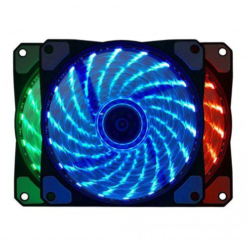 Cooler Fan P/ Gabinete 12CM 1200 Rpm Multicolor BLUECASE BF-06RGB