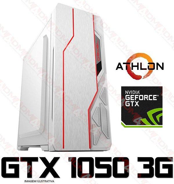 (Recomendado) PC GAMER AMD ATHLON 200GE, 8GB DDR4, SSD 240GB, GPU GEFORCE GTX 1050 3GB