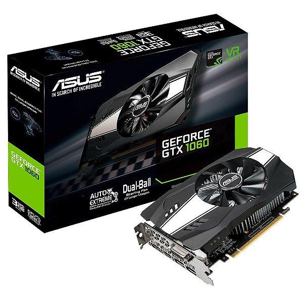 Placa de Vídeo GPU GEFORCE GTX 1060 6GB GDDR5 192 BITS - ASUS PH-GTX1060-6G 90YV0A68-M0NA00